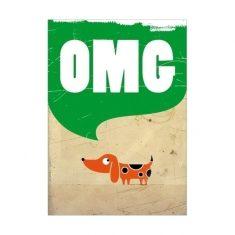 Postkarte - OMG
