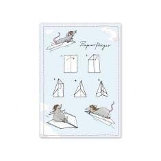 Postkarte - Papierflieger