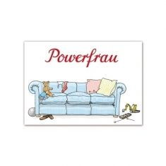 Postkarte - Powerfrau