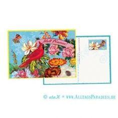 Postkarte - Statt Blumen!