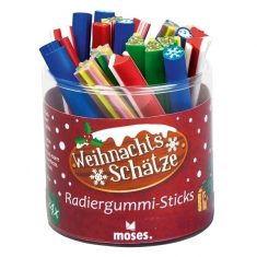 Radiergummi-Sticks - Weihnachtsschätze, 24er-Set
