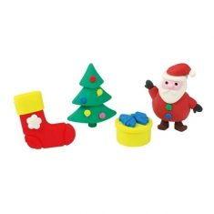 Radiergummi - Weihnachtsradierer, 4er-Set