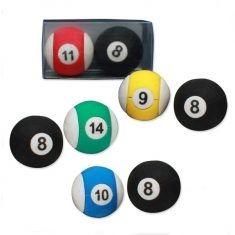 Radiergummis - Billiardkugel, 2er-Set