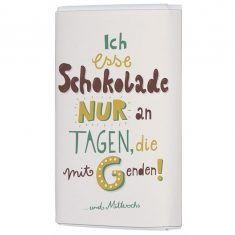 Schoko-Täfelchen - Ich esse Schokolade...