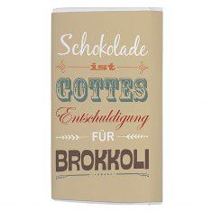 Schoko-Täfelchen - Schokolade ist Gottes Entschuldigung für Brokkoli