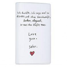 Schoko-Täfelchen - Love you sehr ...