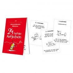 Adventskalenderblöckchen - 24 lustige Aufgaben