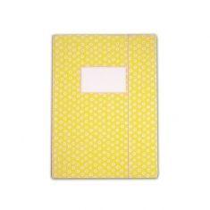 Sammelmappe - Tupfer gelb, DIN A4