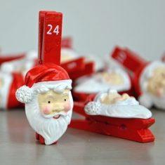 Santa-Klammer-Set