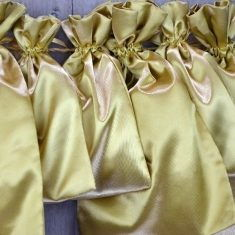 Satinbeutel gold, 6er-Set