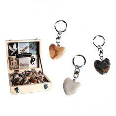 Schlüsselanhänger - Natursteinherz Worry Heart