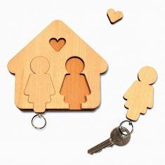 Schlüsselbrett - Home Sweet Home, Frau & Frau