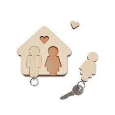 Schlüsselbrett - Home Sweet Home, Mann & Frau