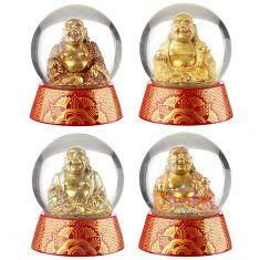 Schneekugel - Buddha, Lucky Buddhas