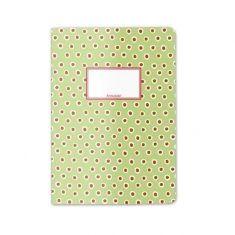Schreibheft - Tupfer grün, DIN A5