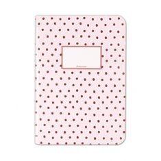 Schreibheft - Tupfer rosa, DIN A5
