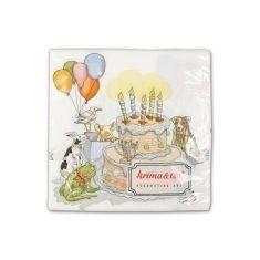 Servietten - Geburtstagstorte