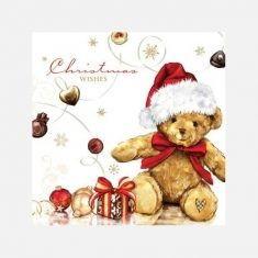 Servietten - Santa-Teddy
