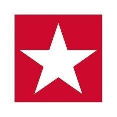 Servietten - Stern, rot