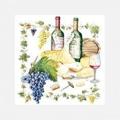 Servietten - Wein & Käse
