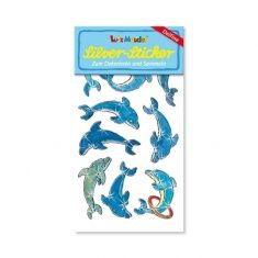 Silver-Sticker - Delfine