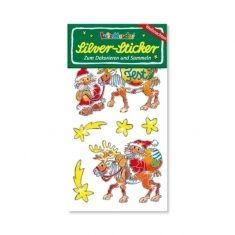 Silver-Sticker - Weihnachten