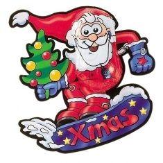 Snowboard-Santa aus Vollmilchschokolade