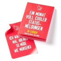 Stickerheft - Ein Monat voll cooler Statusmeldungen