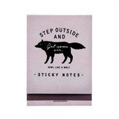 Sticky Notes - Wolf, grau