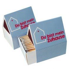 Streichholz-Häuschen - Du bist mein Zuhause