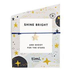 Stretcharmband - New Star gold/black von timi.