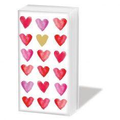 Taschentücher SNIFF - Aquarell Gold Hearts