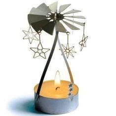 Teelicht Pyramide - Sternen-Tanz