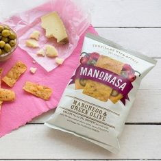 Tortilla Chips - Manchego & Green Olive, Manomasa