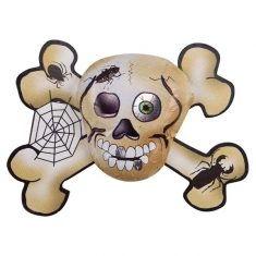 Totenkopf aus Vollmilchschokolade