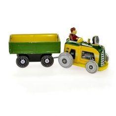 Traktor mit Anhänger, aus Blech