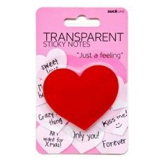 Transparente Klebezettel - Heart