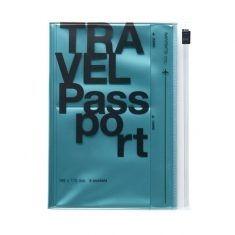 Travel Kit Passport, metallic blau