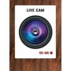 Türspion-Sticker - Live Cam