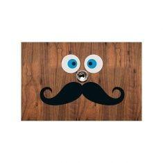 Türspion-Sticker - Schnurrbart