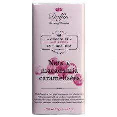 Vollmilchschokolade - Noix de Macadamia caramelisèes, Dolfin