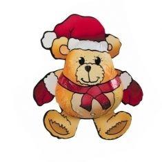 Weihnachts-Teddy aus Edelvollmilch
