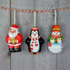 Weihnachtsanhänger - Blechdose