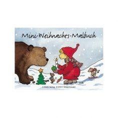 Weihnachtsmalbuch - Wichtel und Bär