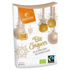 Weihnachtssnack - Bio Ingwer in Kurkuma-Schokolade