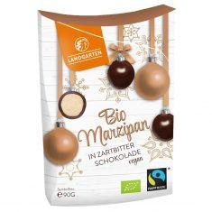 Weihnachtssnack - Bio Marzipan in Zartbitter-Schokolade