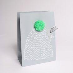 Winter PomPom Tüte - Mütze