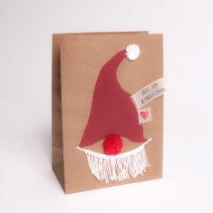 Winter PomPom Tüte - Weihnachtsmann