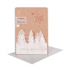 Winter Silhouetten Karte - Fröhliche Weihnachten
