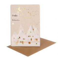 Winter Silhouetten Karte - Frohe Weihnachten